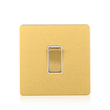 Satin brass 1 Gang 1 Way Wall Electric Switch stainless steel material push button