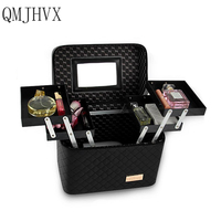 Makeup Artist Travel Accessories Large Capacity Suitcase Makeup Artist storage box Semi permanent casket Tattoo Nails jewelrybox