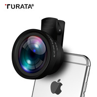Turata 2 In 1 Mobile Phone Lenses Camera Lens 0 45X Wide Angle With Clip 15X