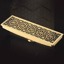Free shipping 20cm x 8cm Euro Style Antique Brass Art Carved Floor Drain Cover Shower Waste Drainer DR088