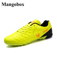 2017 Leather Soccer Shoes Indoor Cheap New Football Turf Shoes Size 37 44 Indoor Soccer Sneakers
