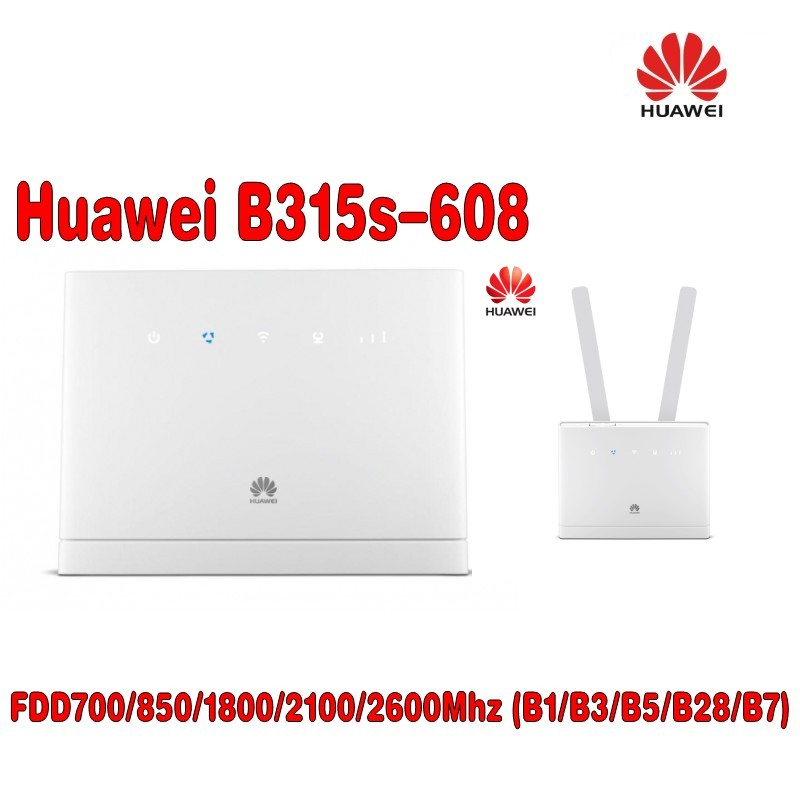 Unlocked New HUAWEI B315 B315S-608 With Antenna 4G LTE CPE 150Mbps 4G LTE FDD Wireless Gateway Wifi Router PK B310 B593 E5186
