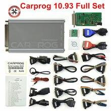 Carprog V10.93 V10.05 V8.21 adattatori completi CarProg programmatore Online per Airbag/Radio/Dash/IMMO/ECU sintonizzazione automatica del Chip ECU