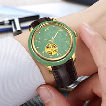 2019 Time-limited White Hotan Jade Mechanical Watch For Men And Women Fully Automatic Waterproof Chinese Ancient Natural Couple hotan jade 001289 190