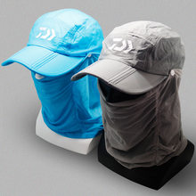 Daiwa Fishing Hat Outdoor Hiking Camping UV Protection Face Neck Cover Foldable Fishing Cap Visor Hat Neck Face Flap Hat(China)