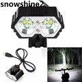 Snowshine2 #2001 велосипедов свет 6000LM 2 Х CREE XM-L T6 LED USB Водонепроницаемый Лампы Велосипед Фар бесплатная доставка