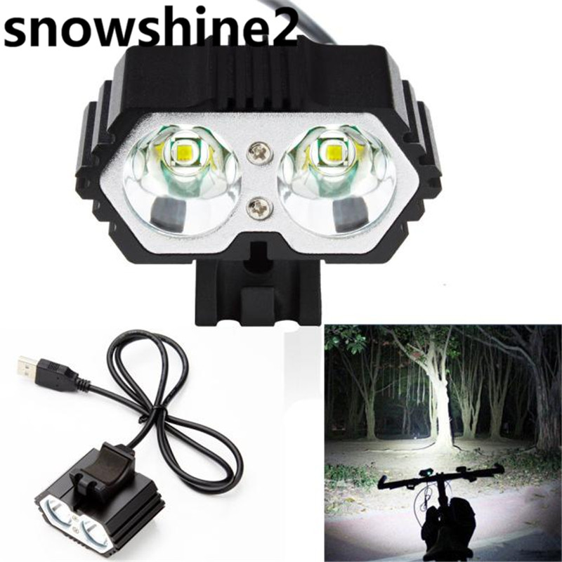 Snowshine2 #2001 bike licht 6000LM 2X2017 XM-L T6 LED USB Wasserdichte Lampe Fahrrad Scheinwerfer großhandel