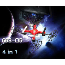 Children outside toy 668-Q5 4 in 1 Conversion 2.4G 4CH 3D roll flip RC Quadcopter 6 Axis Gyro Air-ground Wall Climbing Drone toy