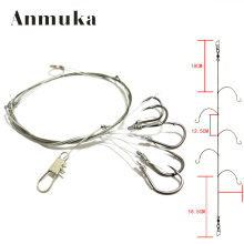 Anmuka 1pcs String Hook 5# 6# 7# 8# 9# 10# 11# 12# Explosion Fishhooks Carbon Steel Bait Holder Fishing Hooks Set