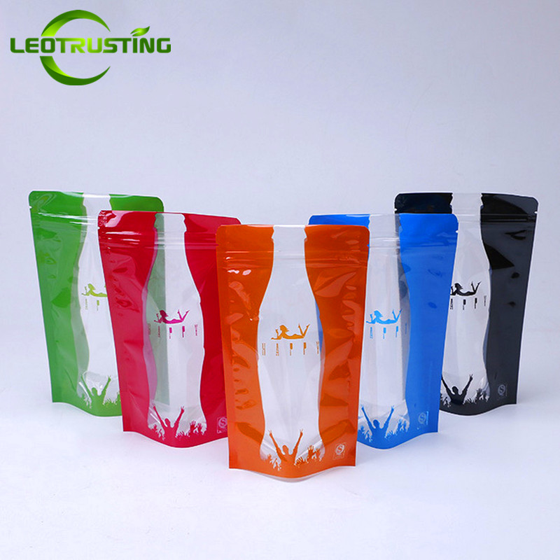 Leotrusting 50pcs 12x20cm 350ml-400ml Clear Stand up Plastic Ziplock Bag Hot and Cold Beverage Bag Plastic Food Drinking Pouches