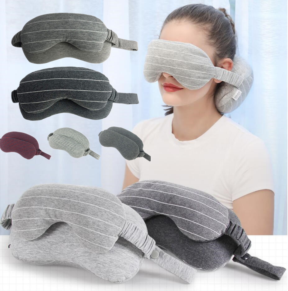 Multi-Function Business Travel Neck Pillow&Eye Mask Storage Bag With Handle Eye Patch Portable Eye Massager Sleep Mask Eye Care