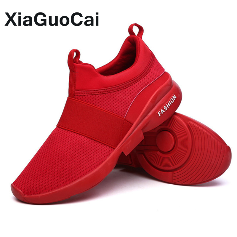 Nouveau Des Rouge grey Plus Maille white Respirant Mans Slip red on Casual Printemps Hommes 2018 Armure Black Mâle La Fly Chaussures Sneakers Taille Automne dqCnCxST