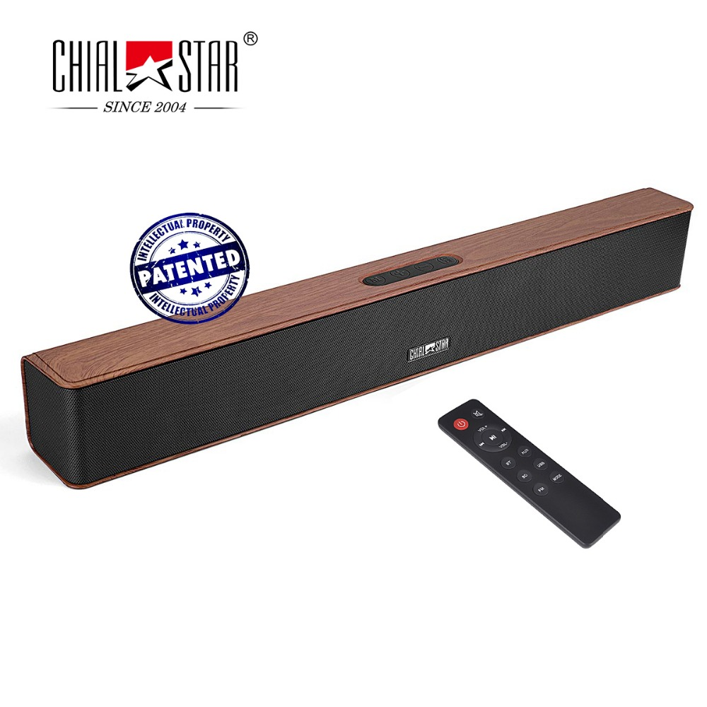 chialstar wooden color sound bar portable bluetooth. Black Bedroom Furniture Sets. Home Design Ideas