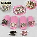BlueZoo 10 unids/pack Colores Mezclados Diseño 3D Decoración Del Arte Del Clavo Rebanadas de Uñas Belleza Stud Accesorios Consejos