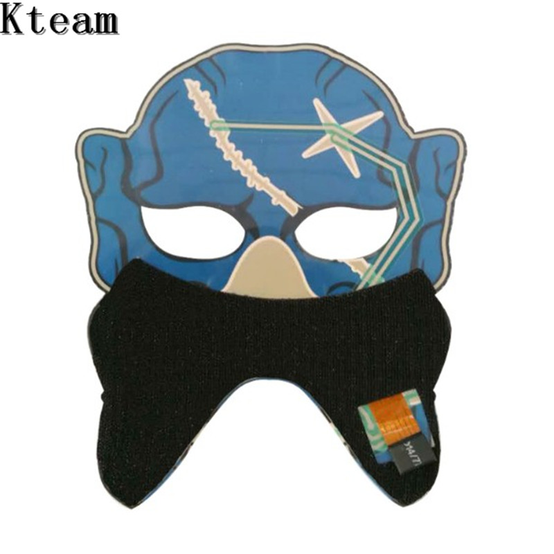 Half Face Frightening Flash Masks for/Halloween Party Mascaras Carnaval Christams Escolourful Voice Control/LED Mask