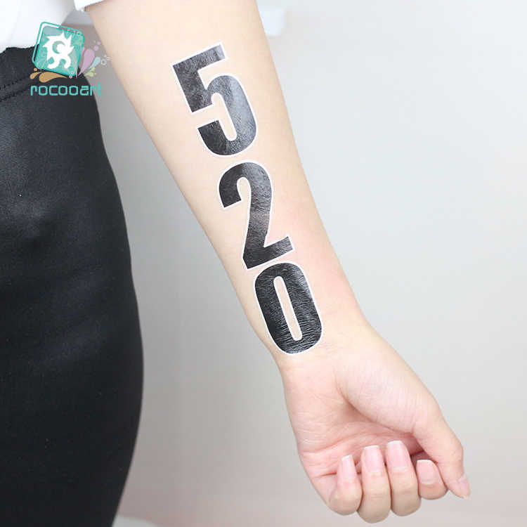 2019 Europe Cup Football Funs Alphabet Number Tattoo Design Temporary Tattoo Sticker Waterproof Hand Face Sport Games Tattoos