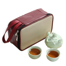 Ceramic Tea Set 2 Colors Teaware Travel Gift Bag Plate Handmade Teapots Crafts Ceremony Mug Porcelain Cup