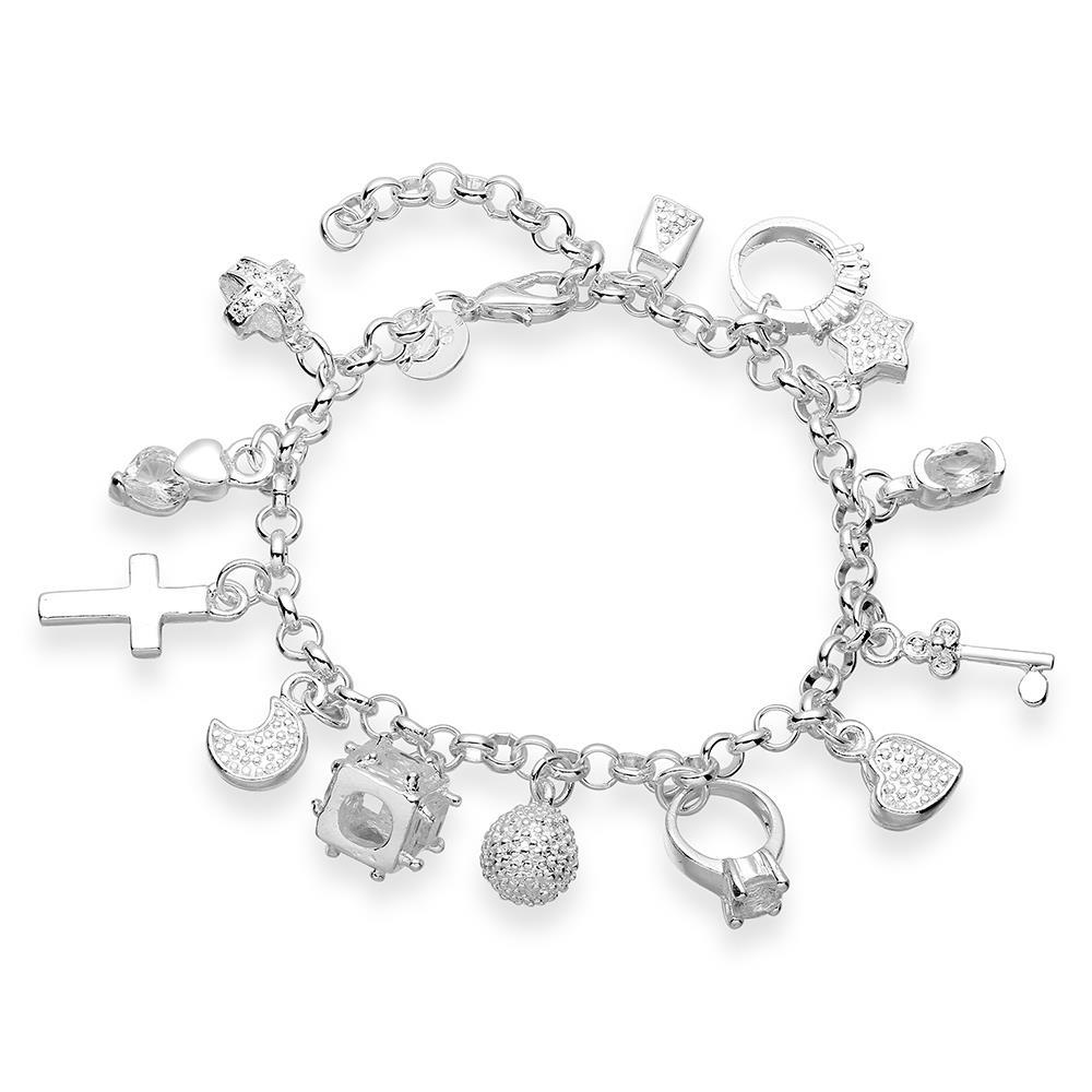 Hs147 Wholesale Silver Plated Charm Bracelet 13 Charms Link Chain 185cmin Charm  Bracelets From Jewelry & Accessories On Aliexpress  Alibaba Group