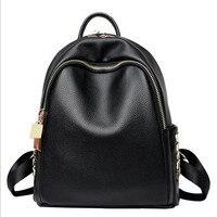 MHCADD Woman Backpack Fashion 2017 Designers School Bag casual Black leather Backpacks Big And Small Bolso Mochila Mujer Rivet