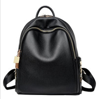 MHCADD Woman Backpack Fashion 2017 Designers School Bag Casual Black Leather Backpacks Big And Small Bolso