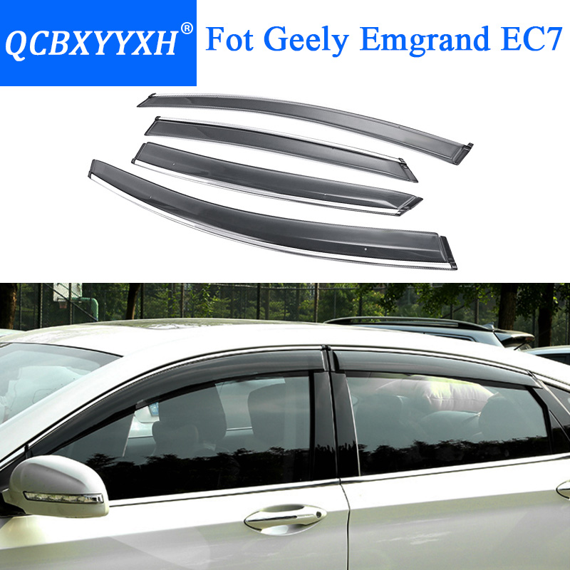 QCBXYYXH Car Styling Awnings Shelters Window Visors For Geely Emgrand EC7 2011 2018 Sun Rain Shield