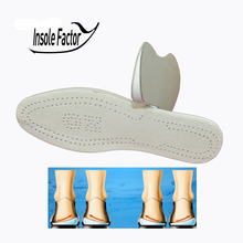 New man and women O&L leg foot care Pronation orthotic silicone gel heel cushion insole shoes pad feet sole