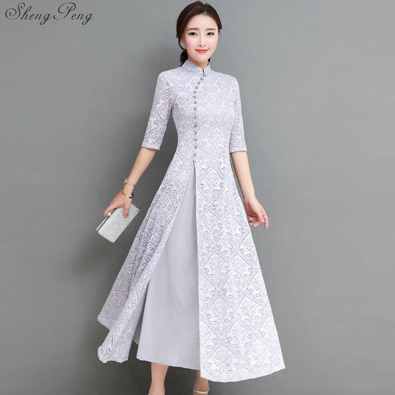 2018 Summer Women Elegant Retro Chinese Traditional Dress