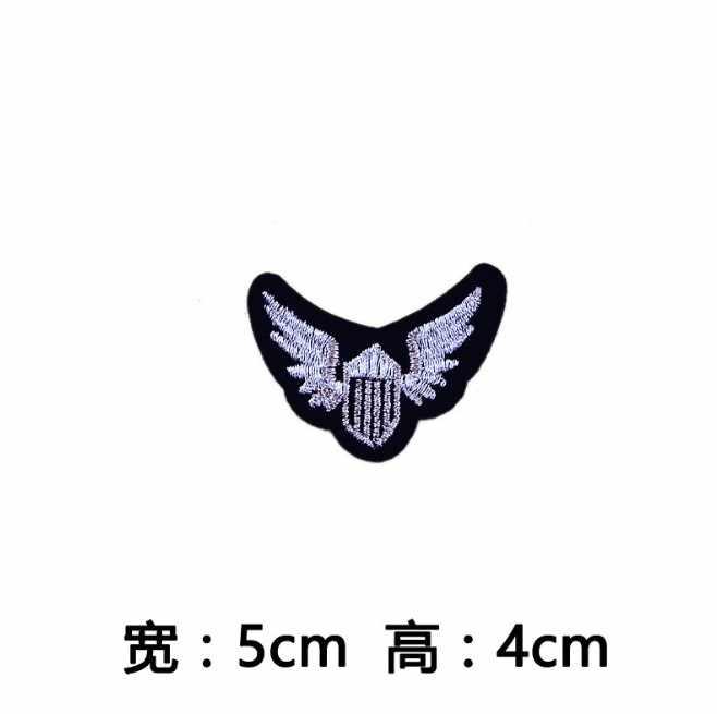 Nero Stella Bianca Ancoraggio Diamante Lettera M ROCCIA Patch di Ferro On O Sew Fabric Sticker Per I Vestiti Distintivo Ricamato Appliques FAI DA TE