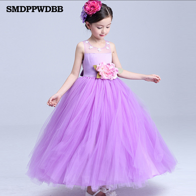 ≧SMDPPWDBB Wedding Party Purple Formal Flowers Girl Dress Pageant ...