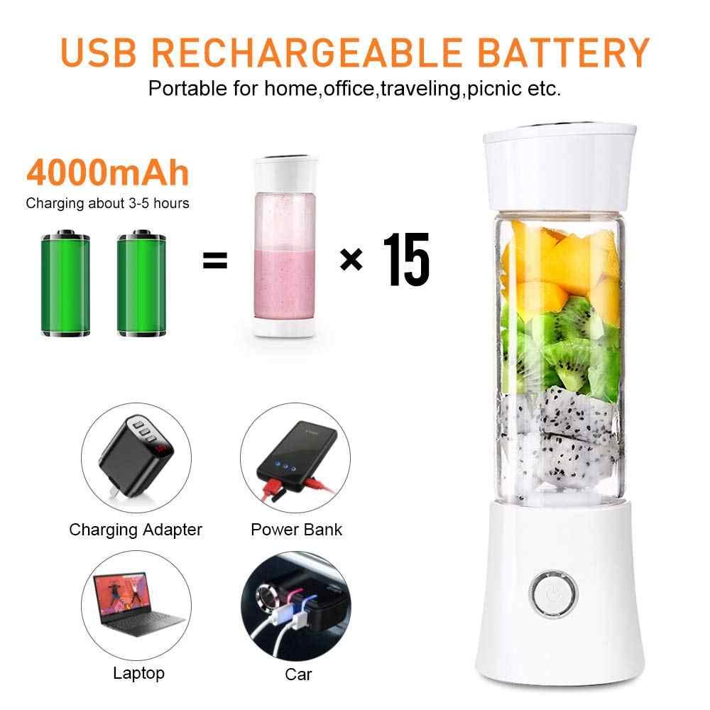 4000mAh Baterias Recarregáveis USB Destacável Copo Espremedor Portátil Pessoal Liquidificador Shaker Misturador de Frutas Máquina de Suco De Vegetais