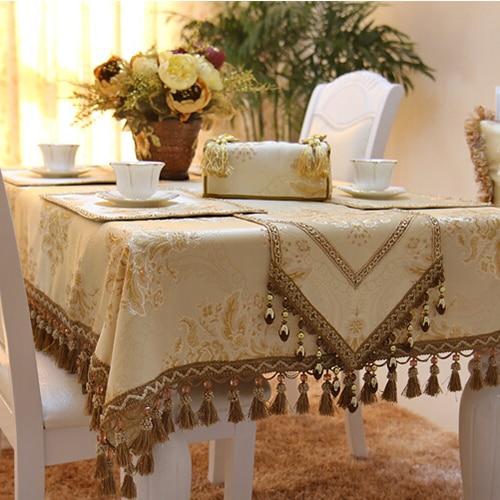Achetez en gros nappe d 39 or en ligne des grossistes nappe for Set de table tissu