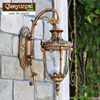 The Balcony Lamp European Garden Aisle Wall Lamp Outdoor Wall Lamp Luxury Villa Courtyard Lamp Background