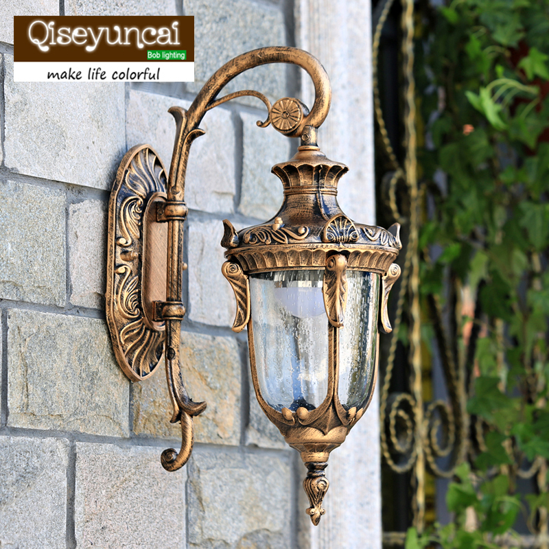 The balcony lamp european garden aisle wall lamp outdoor for Luxury outdoor lighting