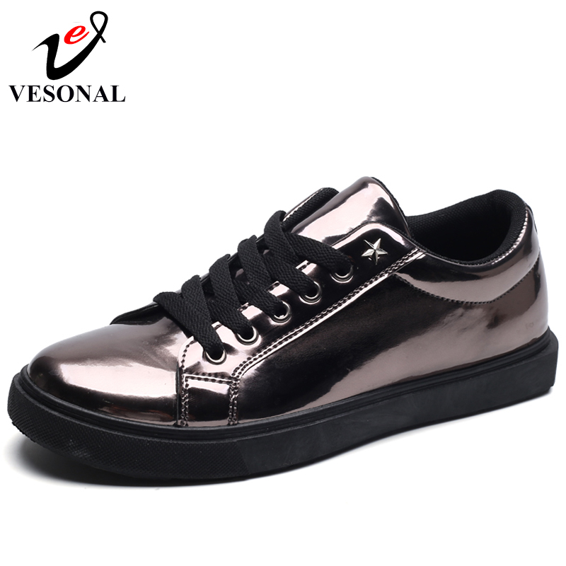 VESONAL Brand Fashion Male For Men Shoes Adult 2018 Spring Autumn Casual Trend Popular Lace Up Sneakers Footwear Waterproof 59W