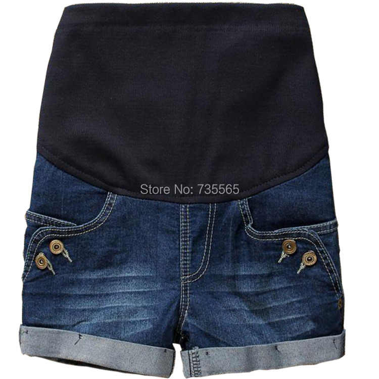 0f2618cadaa99 HOT Selling Summer Maternity Clothing Jeans Shorts Fashion Button Denim  Shorts Pregnant Clothing Wear #k076