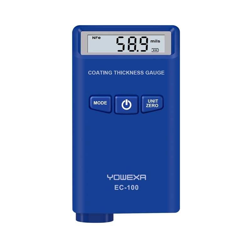 EC 100 Digital Coating Thickness Gauge LCD Display mm mil um Auto Car Paint Thickness Meter