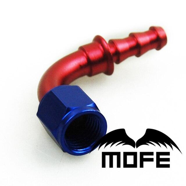 AN10 AN6 AN8 AN4 AN12 90 Degree Fuel / Oil Cooler AN Fitting Push On Push-On Lock Hose End