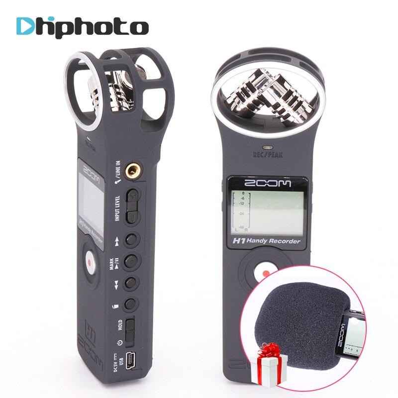 zoom h1 handy portable digital recorder pocket stereo interview microphone vlogging video mic. Black Bedroom Furniture Sets. Home Design Ideas
