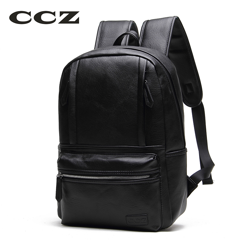 CCZ 2017 Preppy Style School Backpacks For Men And Women PU Leather Backpacks Women Fashion Knapsack College bag BK8004