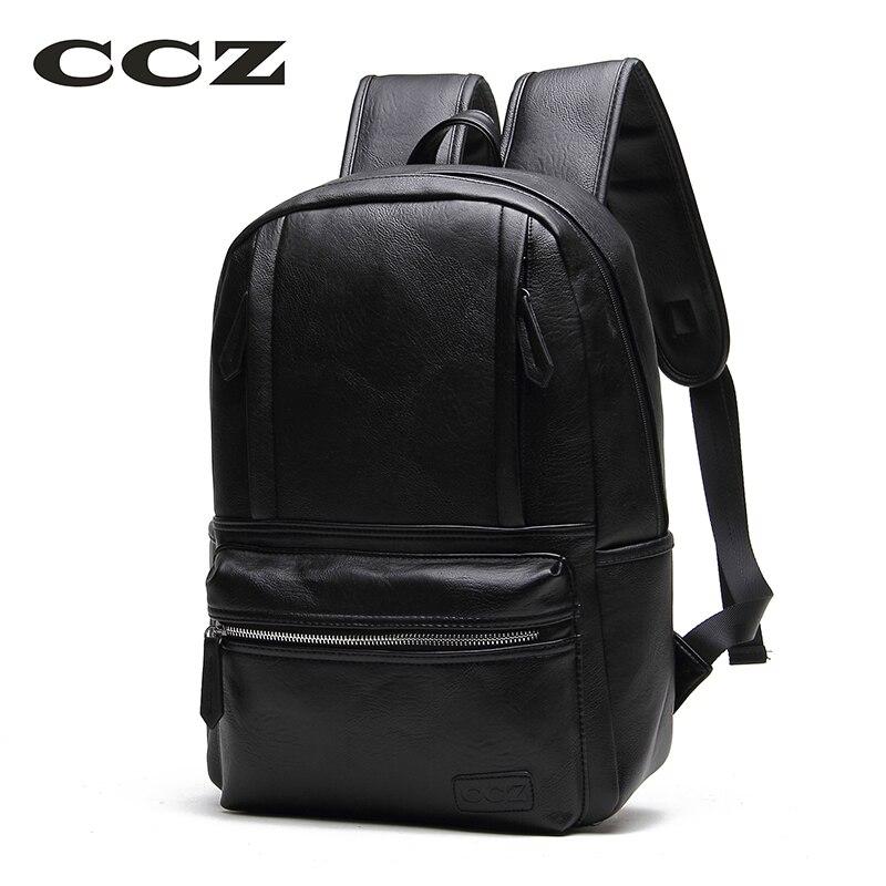 CCZ 2017 Preppy Style School <font><b>Backpacks</b></font> For Men And Women PU <font><b>Leather</b></font> <font><b>Backpacks</b></font> Women Fashion Knapsack College bag BK8004