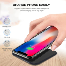 SMORSS Qi Wireless Fast Charger for iphone X 8 8 Plus 10W Metal Wireless Charging Pad for Samsung Galaxy S9 S8 S7 S6 Note 5 accezz 10w fast qi wireless charging pad for samsung galaxy s6 s8 s7 note 8 iphone x 8 plus ultra thin phone wireless charger