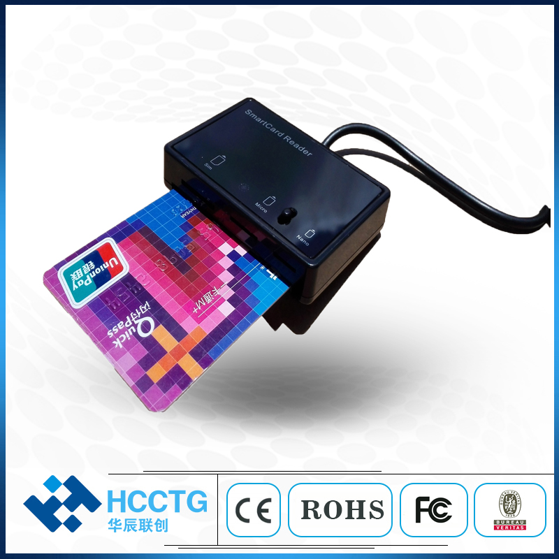 EMV Portable Linux Android USB Multi SIM Card Reader With With PC/SC CCID Protocal DCR3516