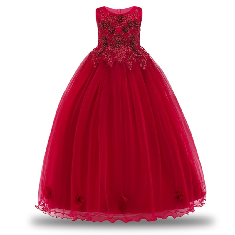 Kids Wedding Summer Party Dresses For Girls Birthday Princess Clothes Children Toddler Elegant Formal Vestido Infant 3-14 years infant toddler girls dress lace cake dresses children princess backless tutu party gown 1st birthday vestido summer clothes 1 6y