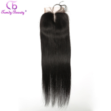 Trendy Beauty Brazilian Straight 4x4 Lace Closure With Baby Hair 100 Human Non Remy Hair Free