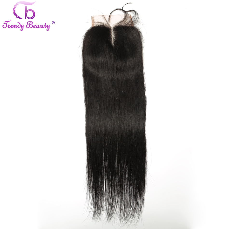 Trendy Beauty Lace Closure Brazilian Straight 4x4 Lace Closure With Baby font b Hair b font