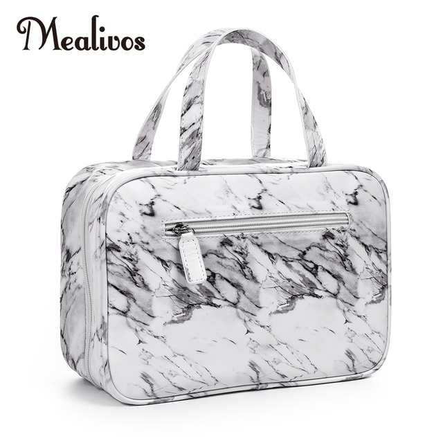 a94b86257c MyMealivos Marble Large Versatile Travel Cosmetic Bag - Perfect Hanging  Travel Toiletry Organizer