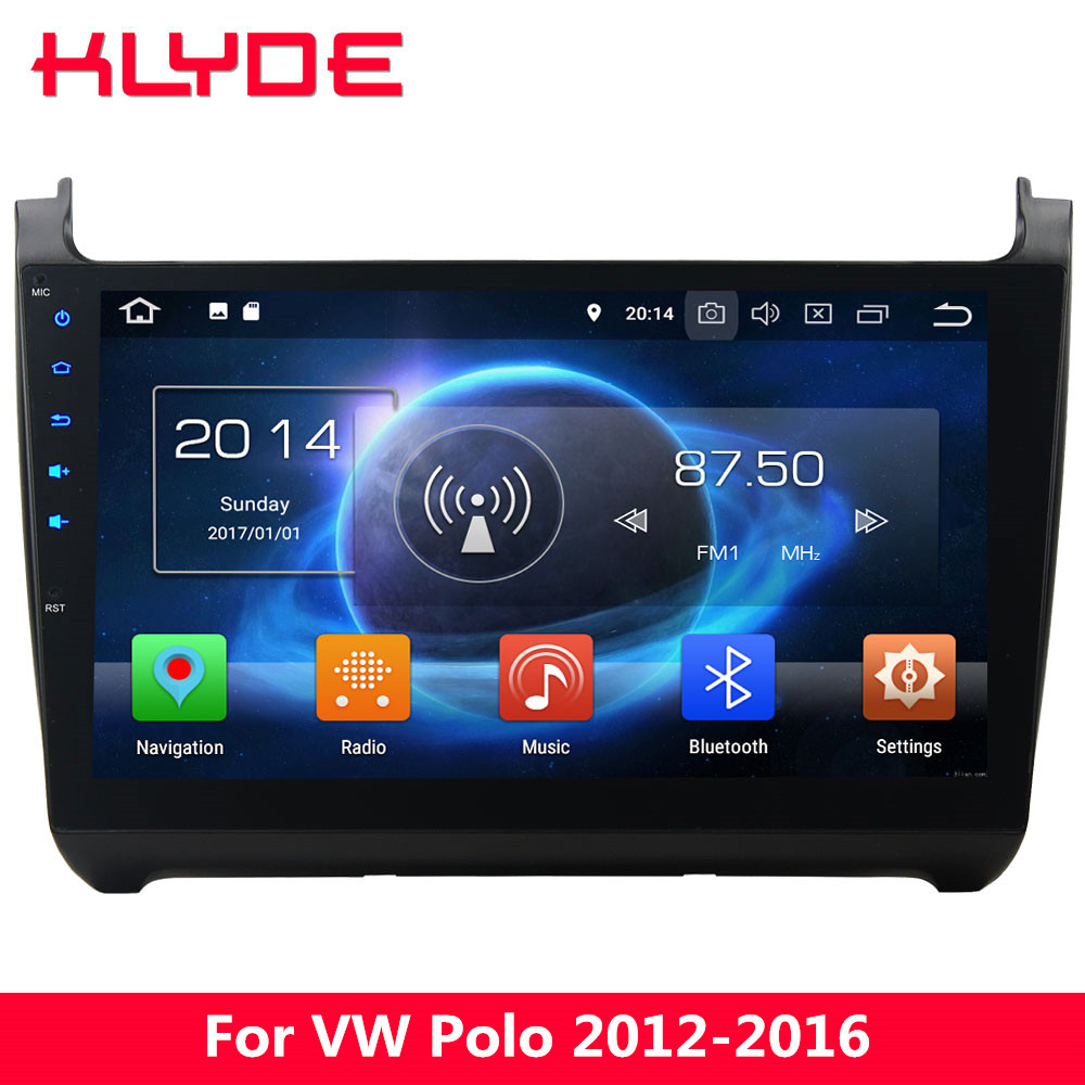 KLYDE 10.1 IPS 4G Octa Core Android 8 7.1 6 4GB+32GB Car DVD Multimedia Player For Volkswagen VW Polo 2012 2013 2014 2015 2016