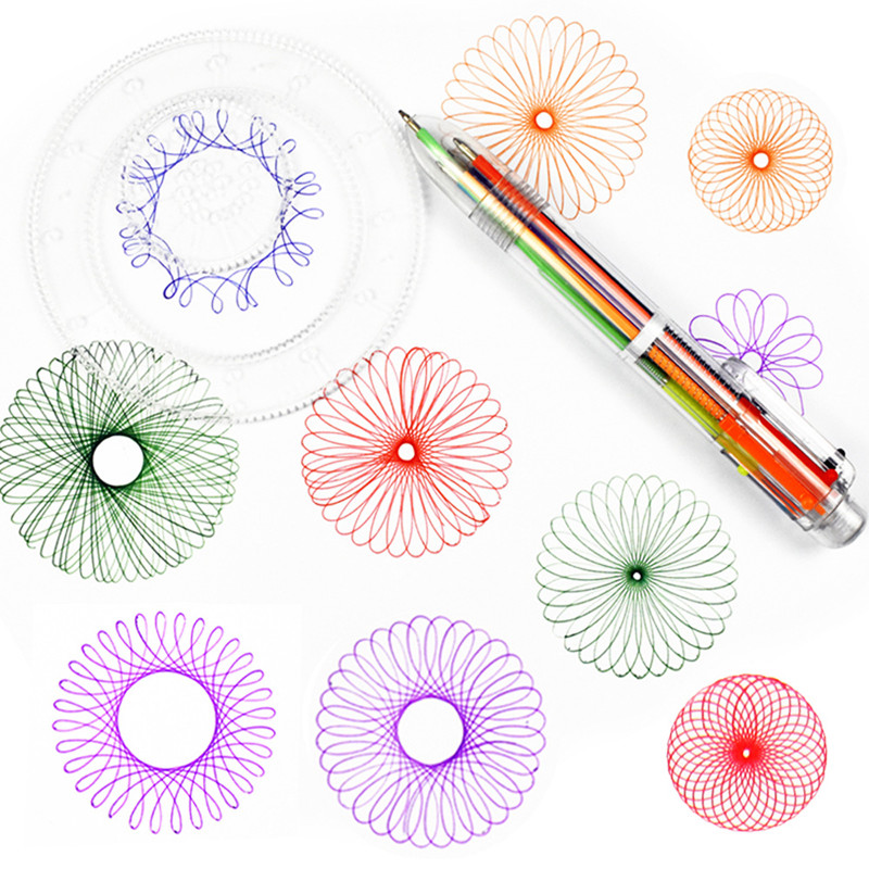 Drawing Toys Set Multi-function Educational Learning Tools Gears Spirograph Geometric Ru ...