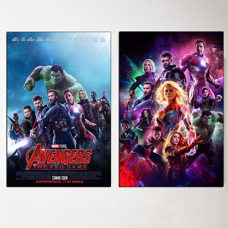 Avengers Endgame Poster Marvel Super Heroes Movies 4 Canvas Painting Captain America Picture for Living Room Wall Art Home Decor in Painting Calligraphy from Home Garden