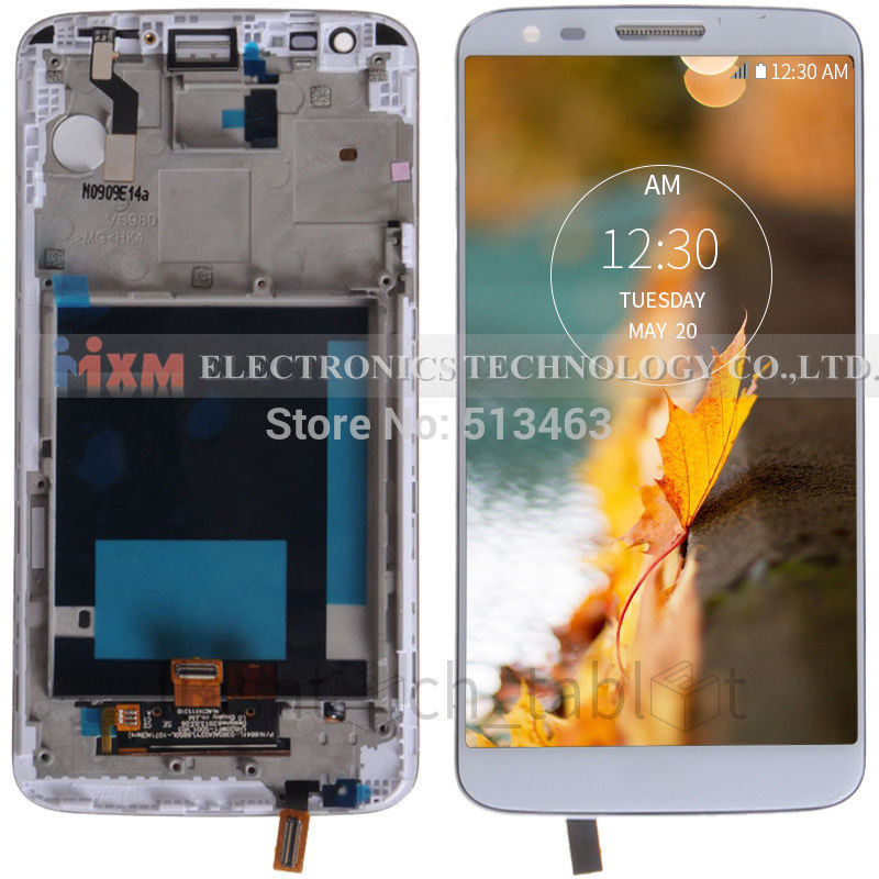 ФОТО LCD Screen for LG Optimus G2 VS980 LCD Screen Display + Digitizer Touch Glass + Frame white